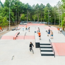 Бетонный скейт парк в Кишиневе