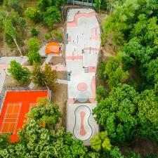 Скейт парк в Кишиневе: общий план