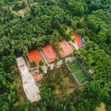 Скейт парк и футбольное поле