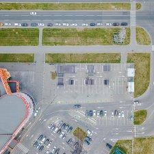 Скейт парк у ТК Парнас Сити: фото сверху