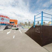 Каркасный скейт парк Парнас Сити