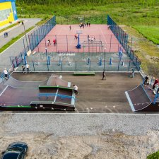 Новый скейт парк в Мончегорске