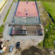 Скейт парк в Мончегорске: фото сверху
