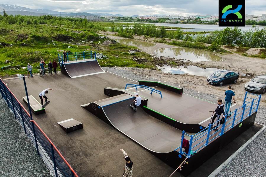 Скейт парк в Мончегорске