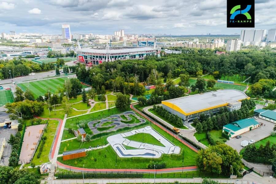 Асфальтовый памп трек в Москве