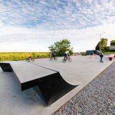 Новый скейт парк на набережной Дмитрия Донского