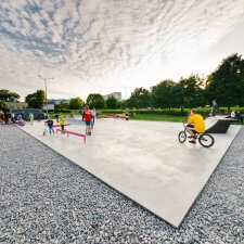 Бетонный скейт парк в Коломне