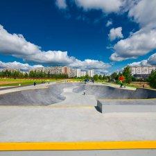 Бетонный боул скейт парка