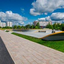 Вид на скейт парк