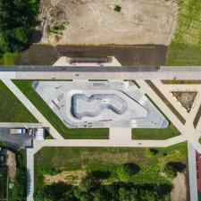 Скейт парк в Зеленограде: вид сверху