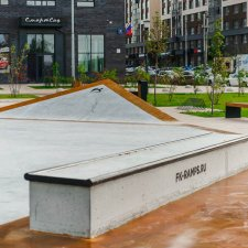 Бетонный скейт парк в Новой Москве