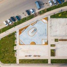 Скейт парк в ЖК Испанские кварталы: вид сверху