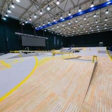 Скейт парк для чемпионата Европы по скейтбордингу