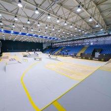 Скейт парк для чемпионата по скейтбордингу