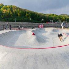 Бетонный скейт парк в Красной Поляне