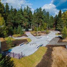 Новый бетонный скейт парк
