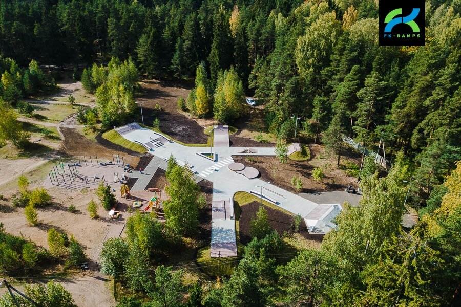 Бетонный скейт парк во Всеволожске