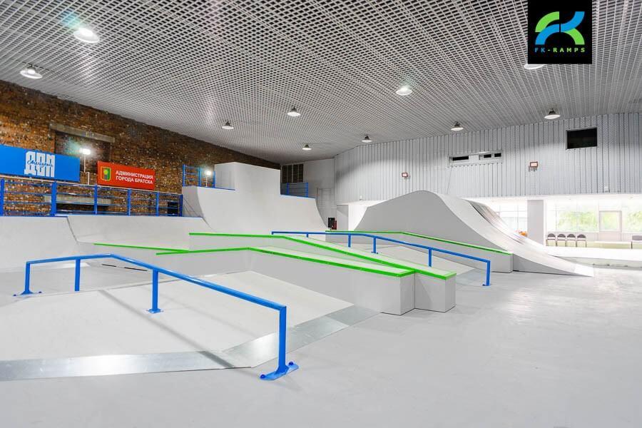 Крытый скейт парк в Братске