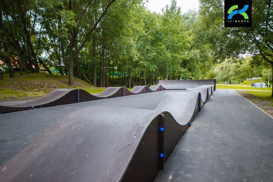 Модульный памп трек в парке Битца