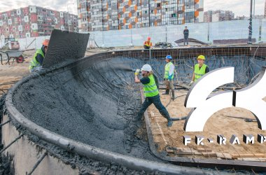 Строительство бетонных скейт парков