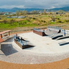 Каркасный скейт парк в Крыму