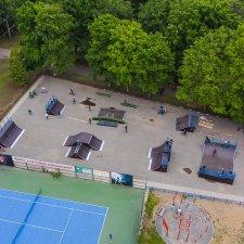 Скейт парк в парке Победы в Твери