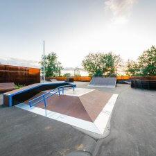 Скейт парк на металлическом каркасе