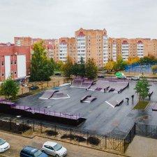 Обновленный скейт парк на Ленинградской улице