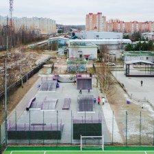 Скейт парк: вид сверху