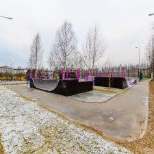 Скейт парк в Южном микрорайоне Всеволожска