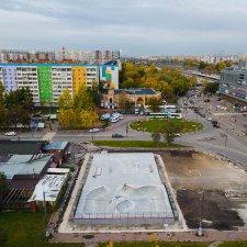 Бетонный скейт парк в городе Реутов