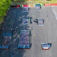 Деревянный скейт парк в Миассе: фото