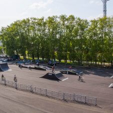 Скейт парк на улице 8 июля
