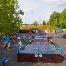 Деревянный скейт парк в Миассе