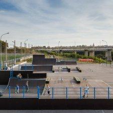 Деревянный скейт парк в городе Елец