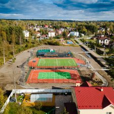 Скейт парк в Левашово: вид сверху