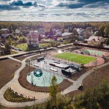 Деревянный скейт парк в Левашово