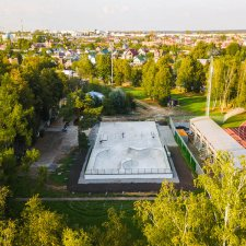Скейт парк в Наро-Фоминске: вид сверху