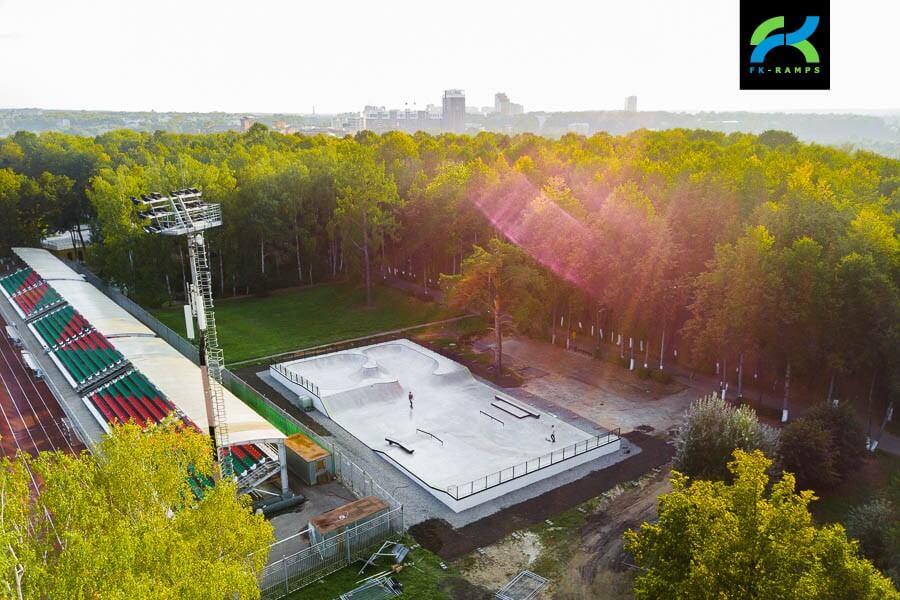 Бетонный скейт парк в Наро-Фоминске