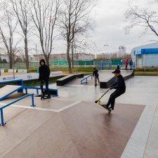 Деревянный скейт парк
