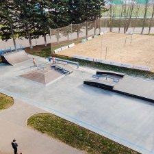Деревянный скейт парк в городе Орел