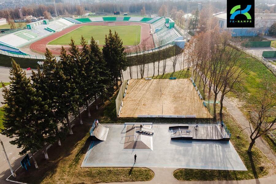 Деревянный скейт парк в Орле