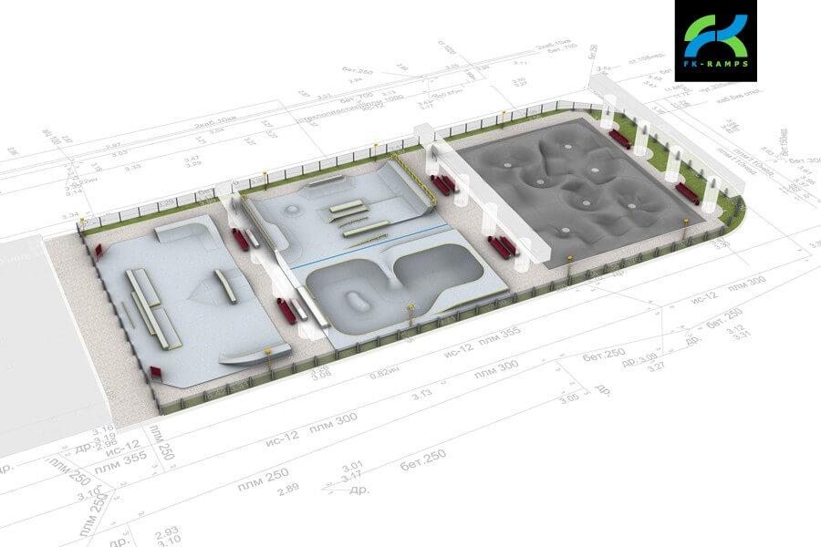 Проект скейт парка Коломяжский путепровод