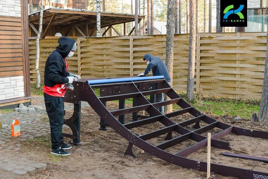 как построить мини рампу на даче