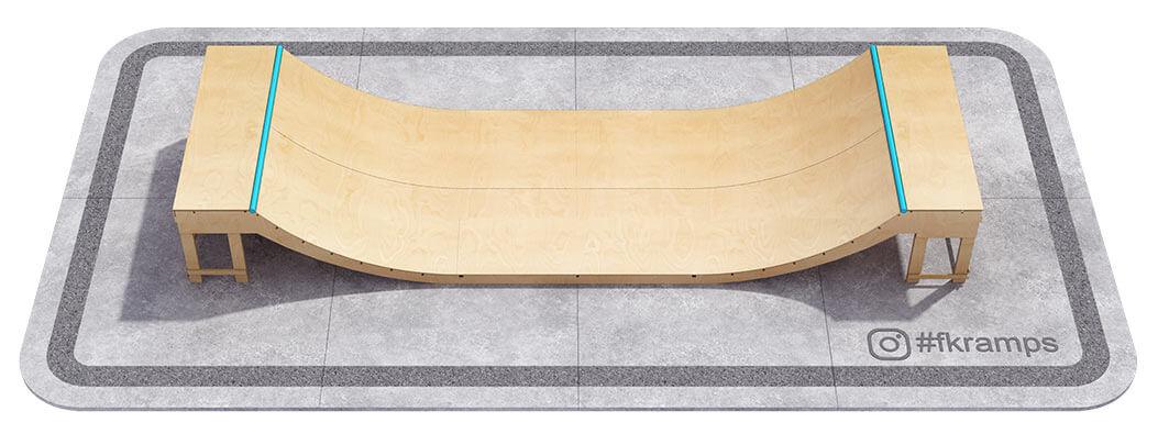 Рампа на деревянном каркасе fk-ramps mini ramps мини рампа