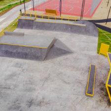 Бетонный скейт парк в Ухте