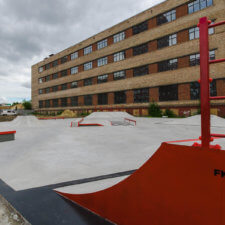 Бетонный скейт парк в ЖК Кварталы 21/19