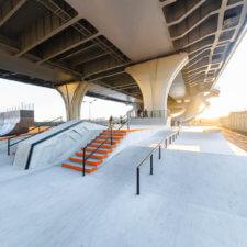 Скейт парк под мостом Бетанкура