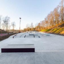 Скейтпарк и памптрек на Песчанке, Всеволожск