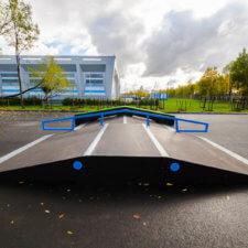 Скейт парк на ул.Передовиков СПб